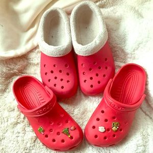 Crocs- summer and winter pairs